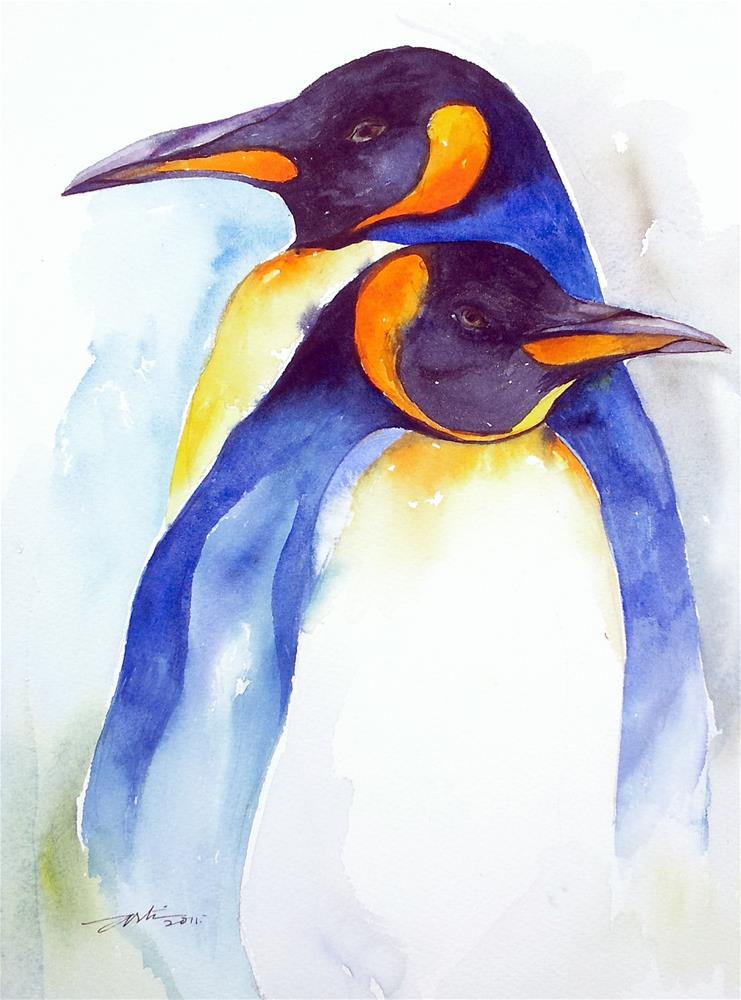 """""""Chums_Penguins"""" original fine art by Arti Chauhan"""