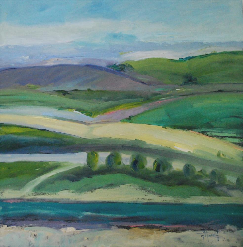 """""""River Run"""" original fine art by Deborah Harold"""