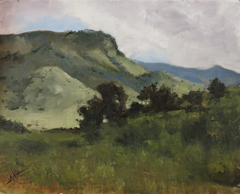 """Chiricahua Foothills"" original fine art by Kaia Thomas"