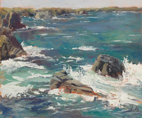 """La côte sauvage"" original fine art by Evelyne Heimburger Evhe"