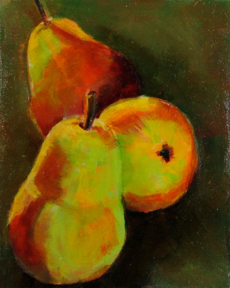 """3 Pears of Wishes For All that You Want"" original fine art by Christine Holzschuh"