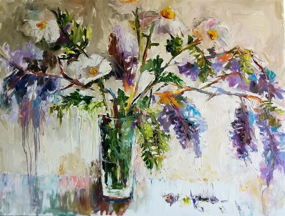 """Spring Sonata"" original fine art by pepa sand"