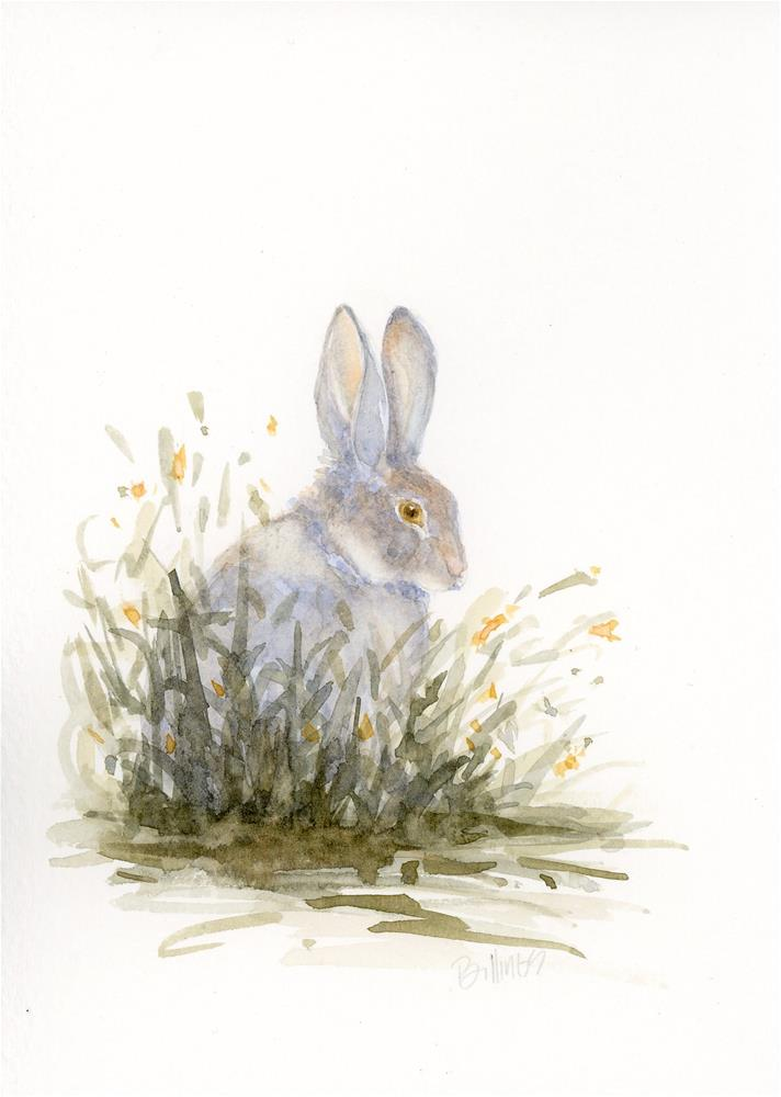 """Meadow Cottontail Study I"" original fine art by Susanne Billings"