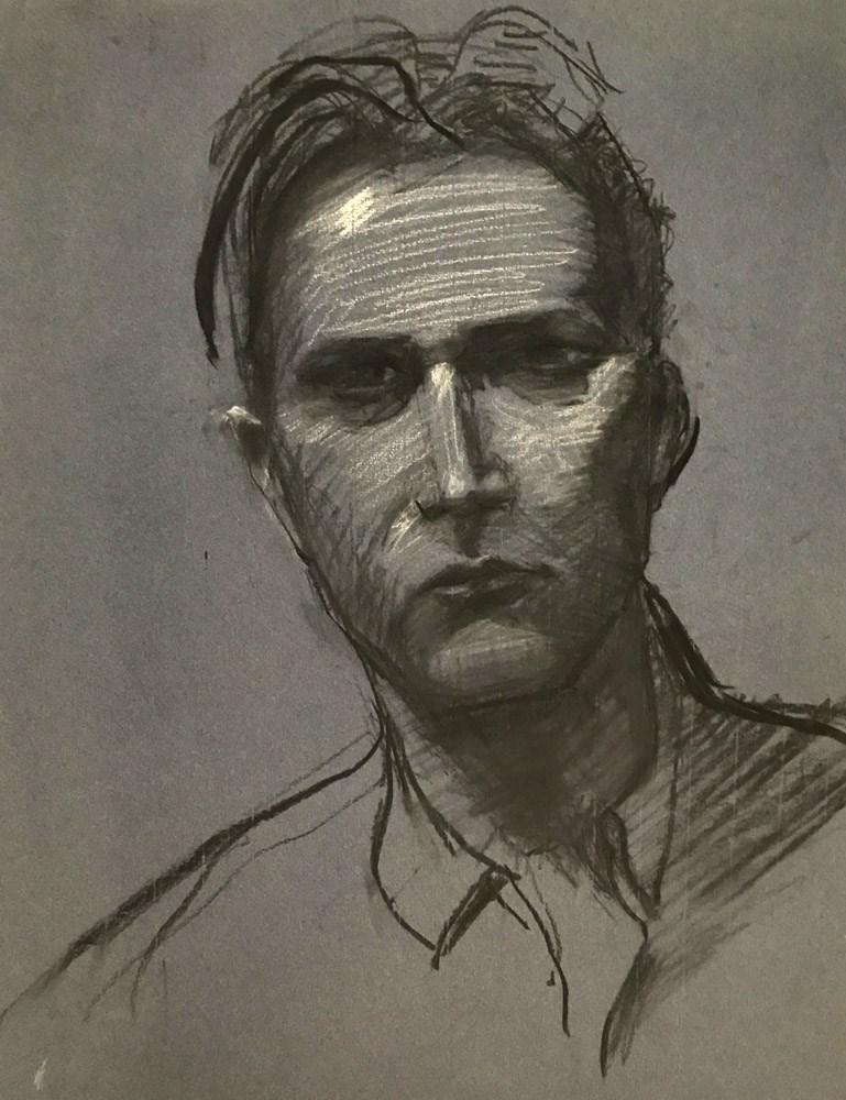 """""""German Man"""" original fine art by Donna Dumont"""
