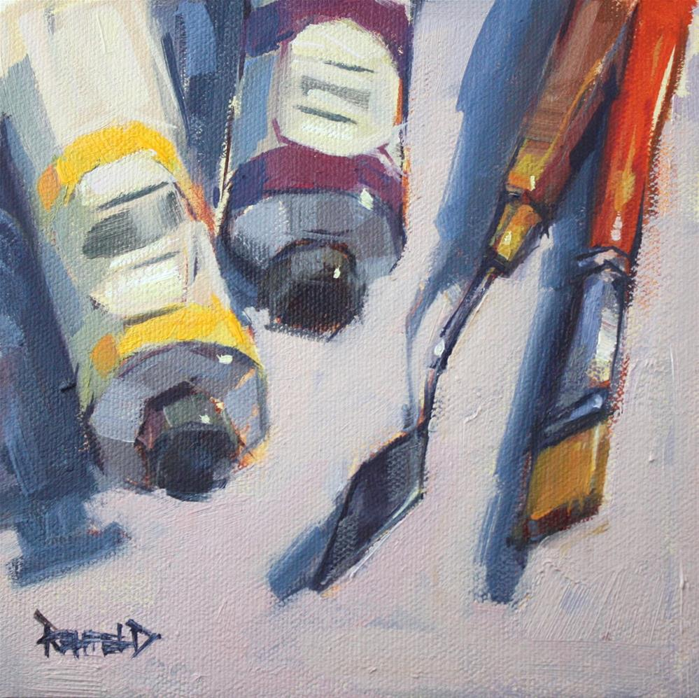 """My Tools"" original fine art by Cathleen Rehfeld"