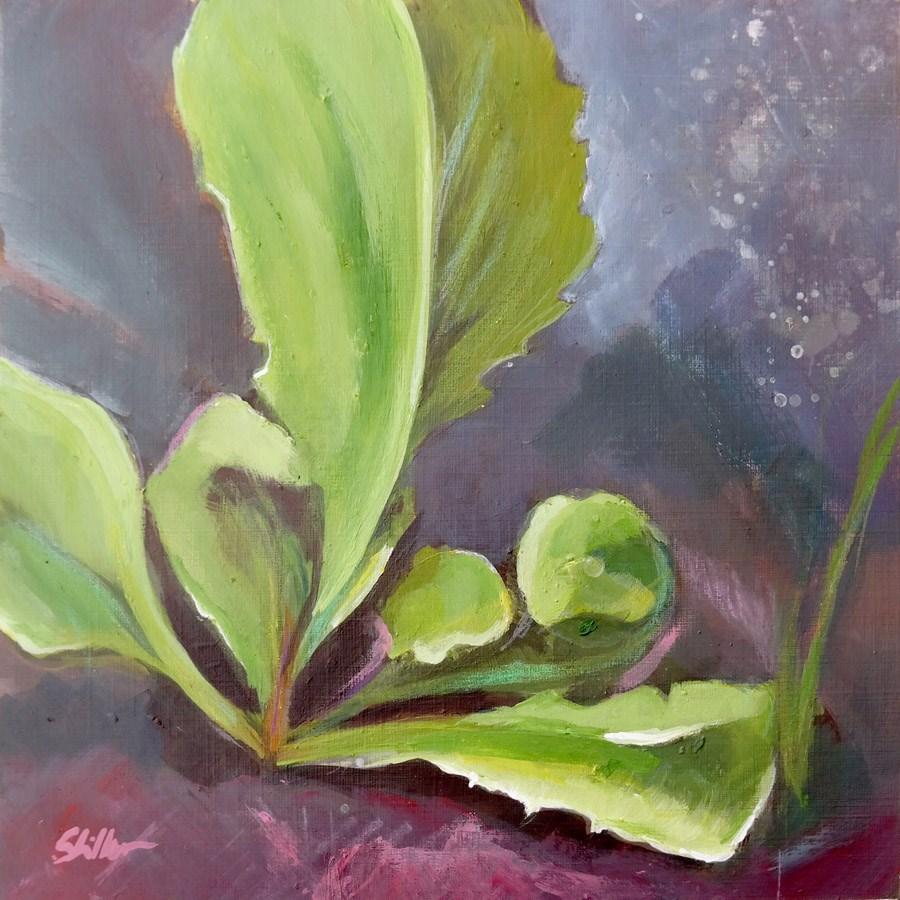 """""""1773 Weed Painting Challenge"""" original fine art by Dietmar Stiller"""