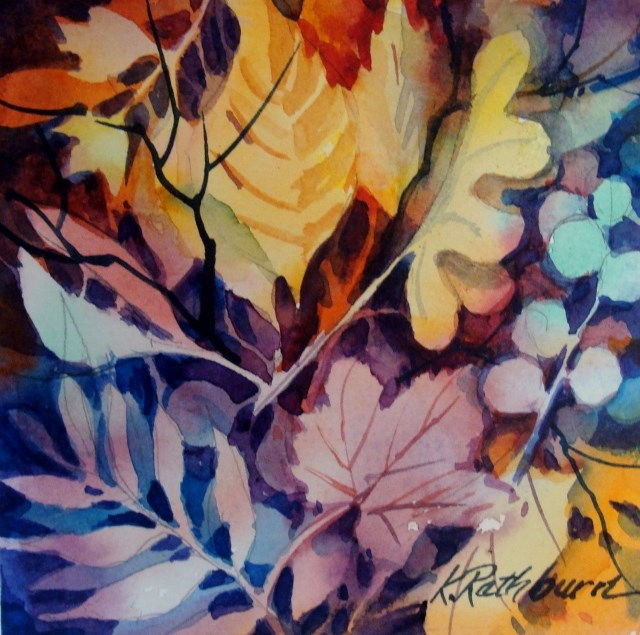"""Fall Leaves"" original fine art by Kathy Los-Rathburn"