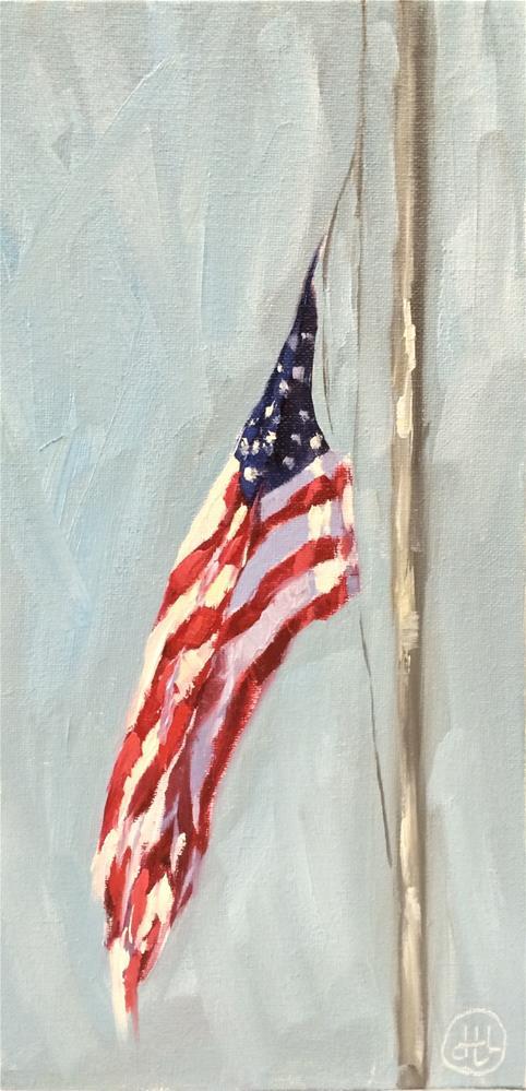 """at half-mast"" original fine art by Dottie  T  Leatherwood"