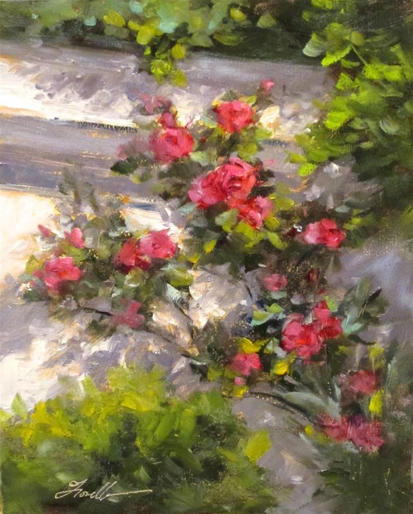 """Climbing Roses"" original fine art by Pat Fiorello"