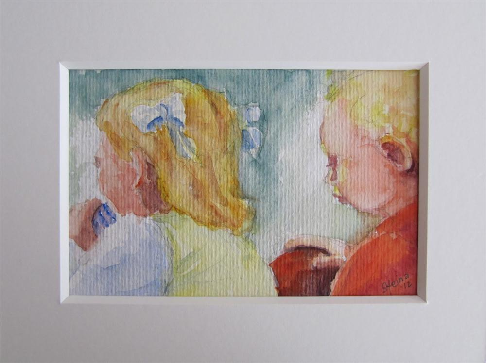 """Chlldren at play"" original fine art by Steinunn Einarsdottir"