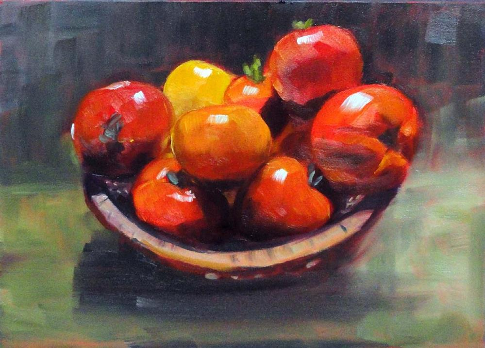 """Homegrown Tomatoes"" original fine art by Cietha Wilson"