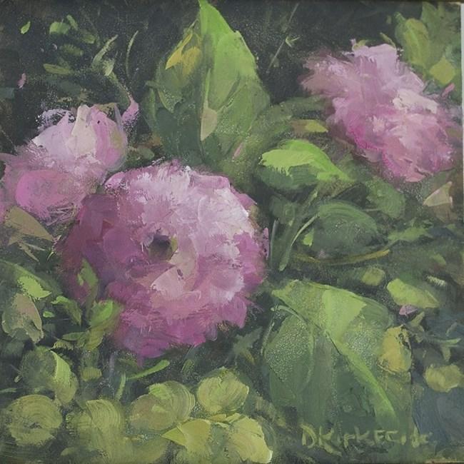 """Pinkalicious - Garden Series Painting"" original fine art by Deb Kirkeeide"
