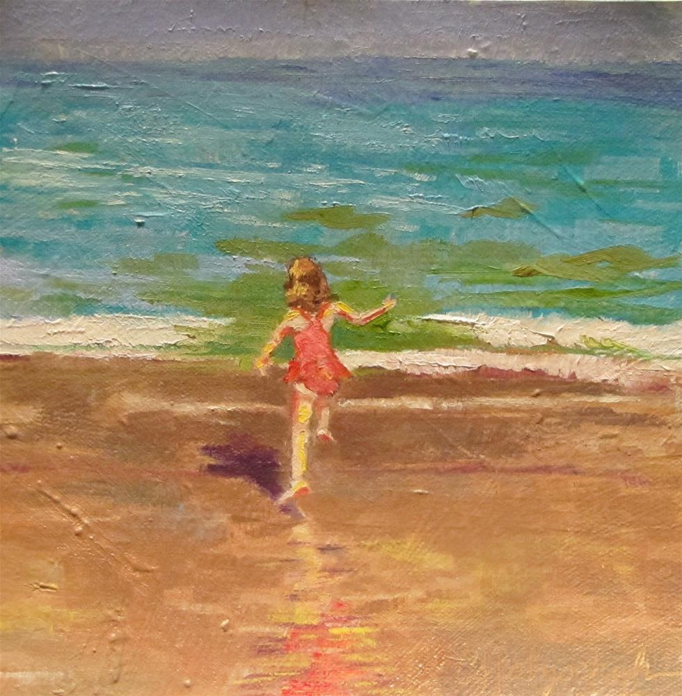 """Youth Sublime 6x6 oil on canvas"" original fine art by Christine Holzschuh"
