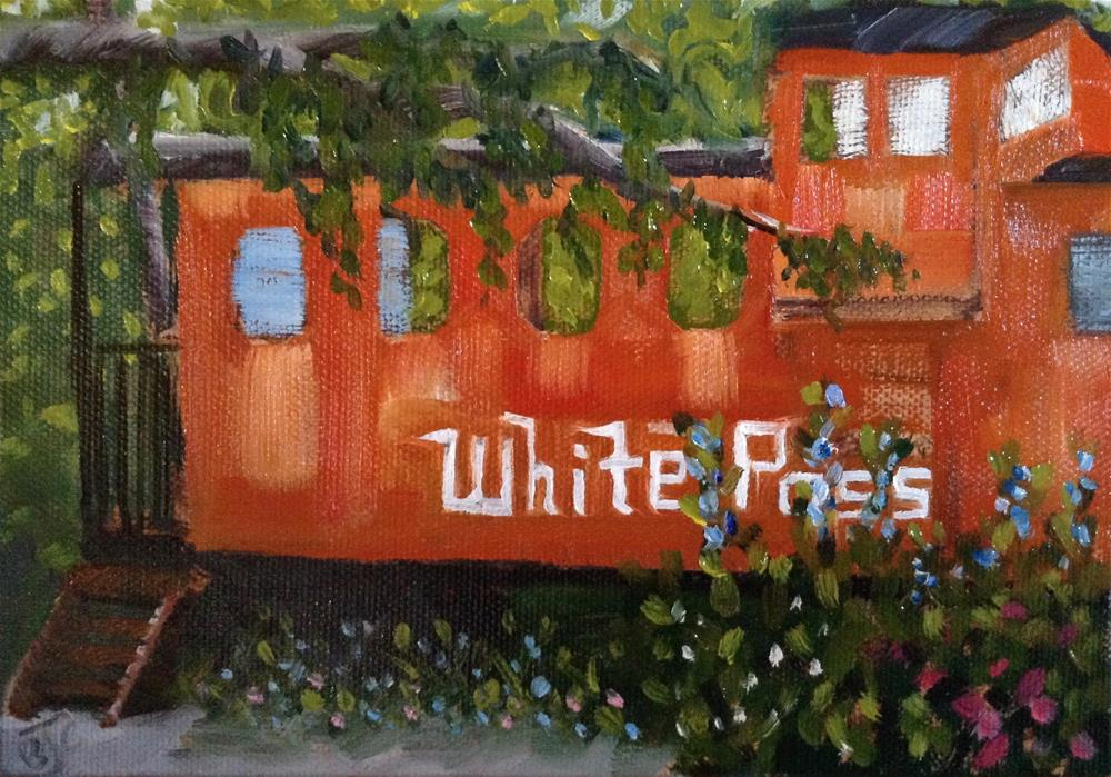 """Caboose Cabin"" original fine art by Bobbie Cook"