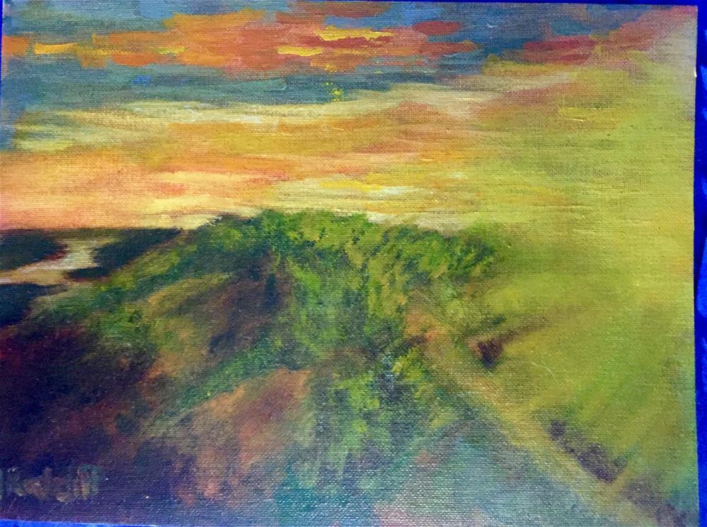 """First Italy Sunrise"" original fine art by Julie Ratcliff"