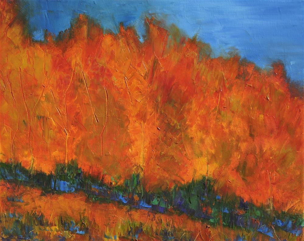 """Aspen fall flame"" original fine art by Linda mooney"