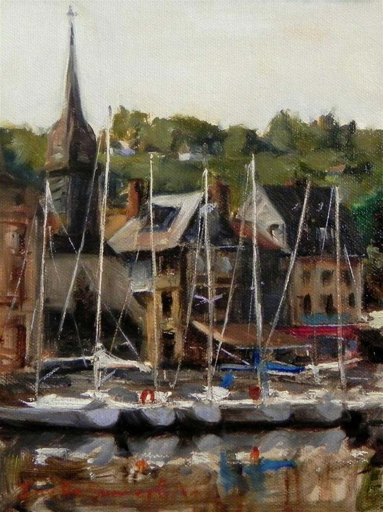 """Honfleur Boat Study II"" original fine art by Jonelle Summerfield"