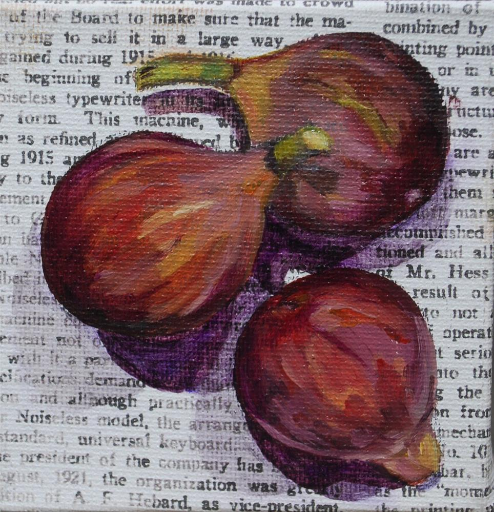 """Figs"" original fine art by Beverley Phillips"