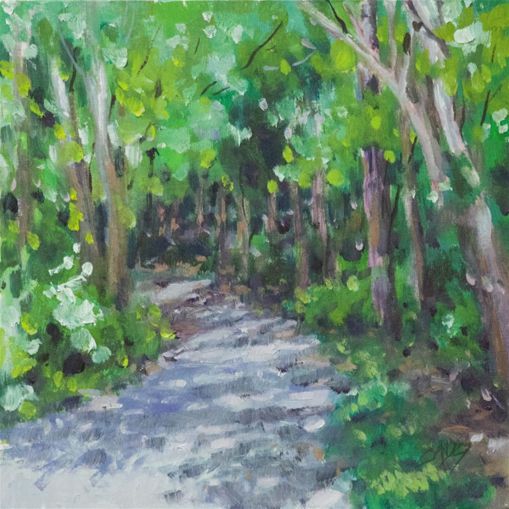 """Shady Trail"" original fine art by Linda Eades Blackburn"