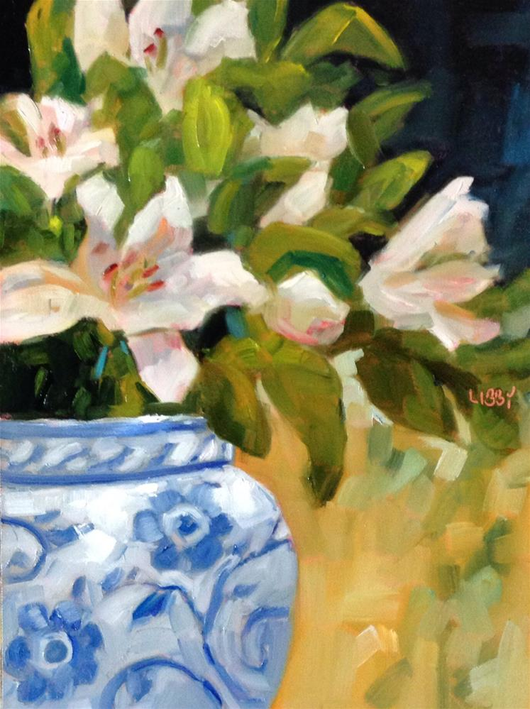 """Lily Decision"" original fine art by Libby Anderson"