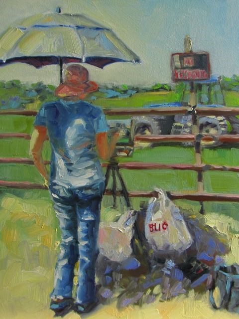 """Plein Air Painter"" original fine art by Mb Warner"