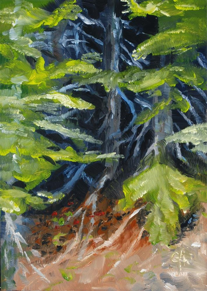 """Trees on the Cliff"" original fine art by Gary Westlake"