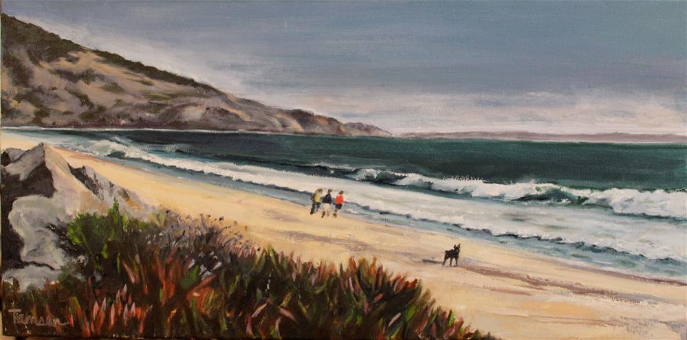 """Walking Stinson Beach"" original fine art by Tamsen Armstrong"