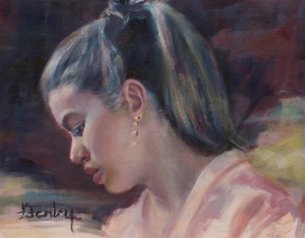 """The Ponytail"" original fine art by Denise Henley"