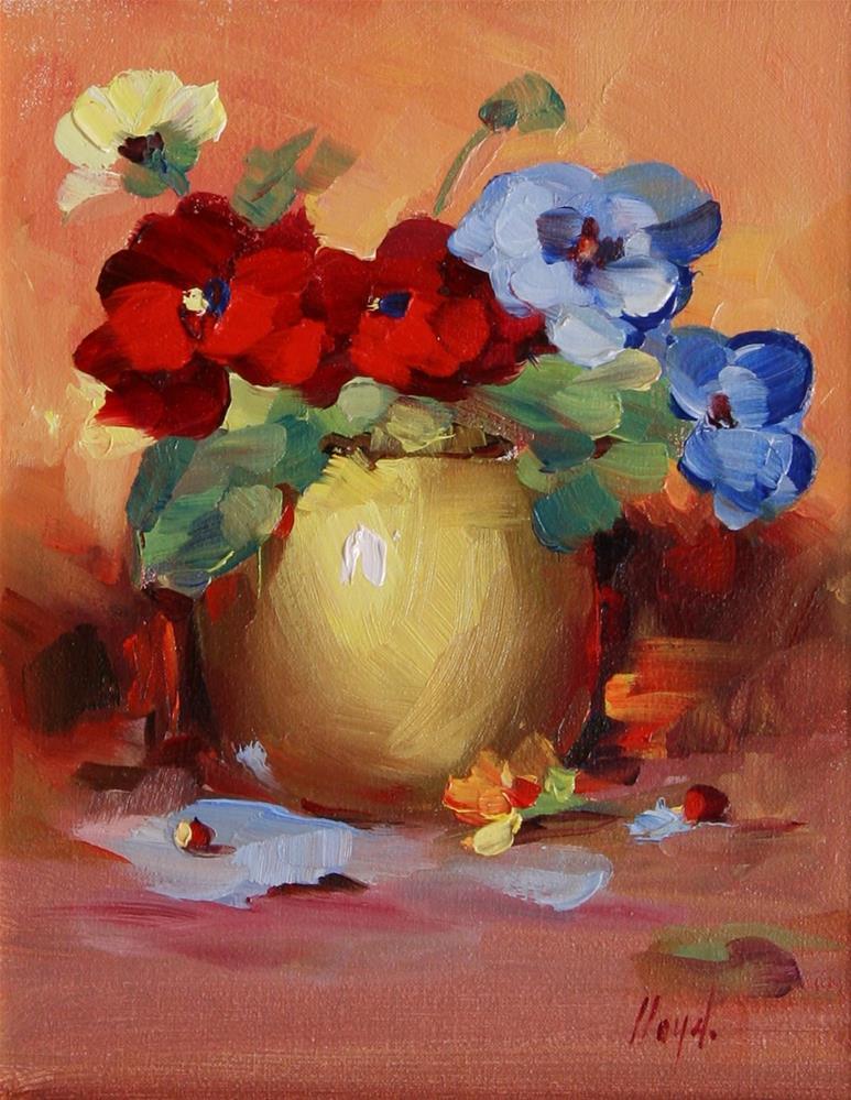 """Primary Colors"" original fine art by Diane Lloyd"