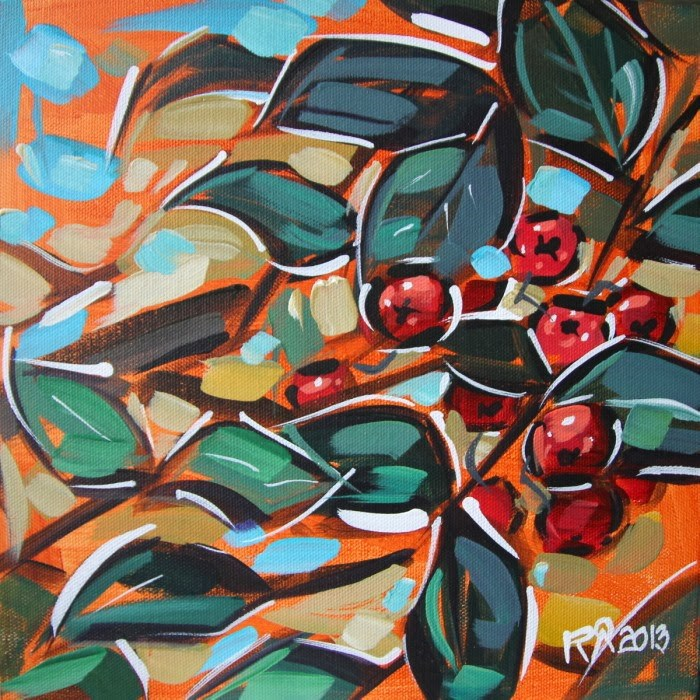 """Rowan Berries 18"" original fine art by Roger Akesson"
