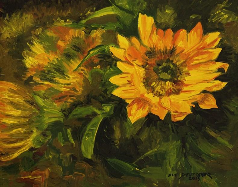"""""""Sunflower 130516"""" original fine art by Sue Deutscher"""