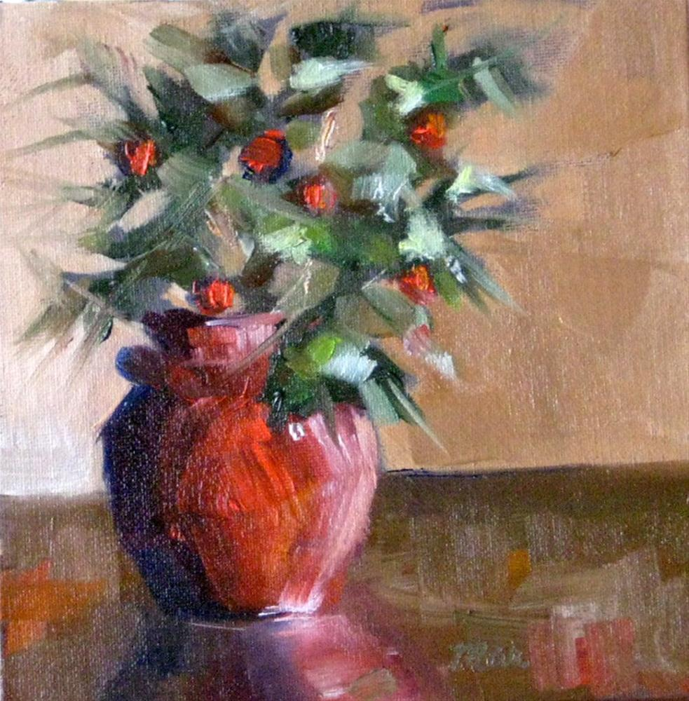 """Red and Green"" original fine art by Marcia Hodges"
