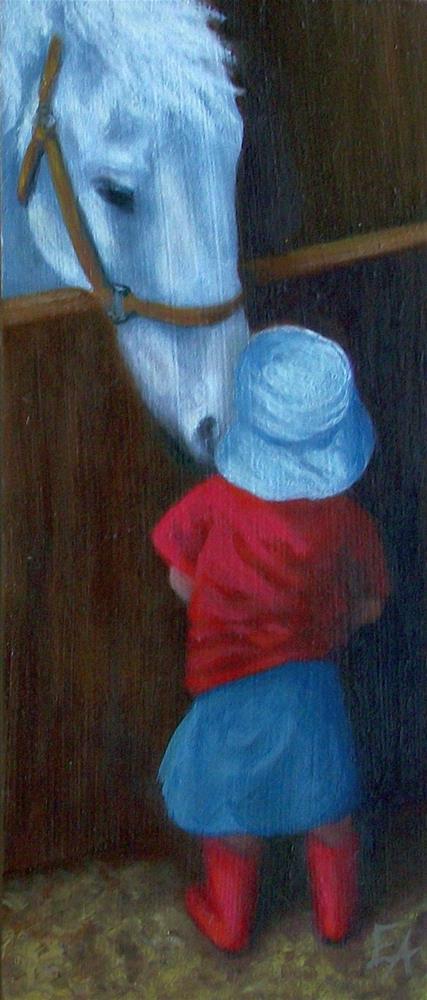 """Curious"" original fine art by Elizabeth Elgin"