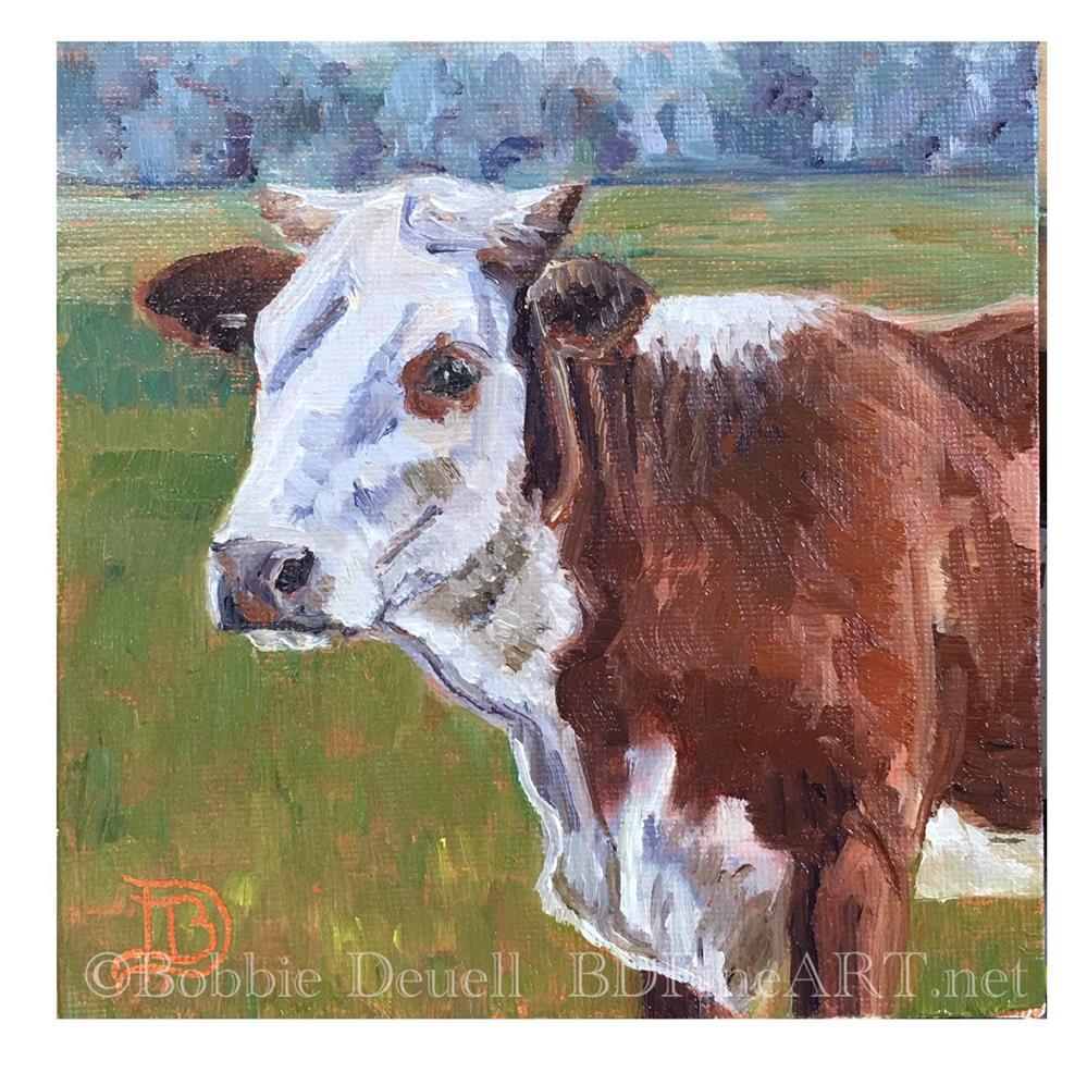 """Getting Horns"" original fine art by Bobbie Deuell"
