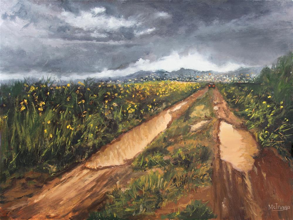 """Hard Rain"" original fine art by Patricia Matranga"