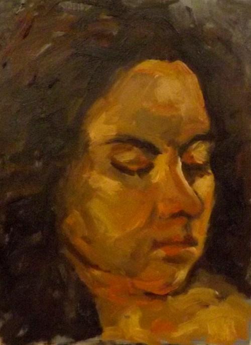 """Portrait,J10"" original fine art by Run-      Zhang Zane"