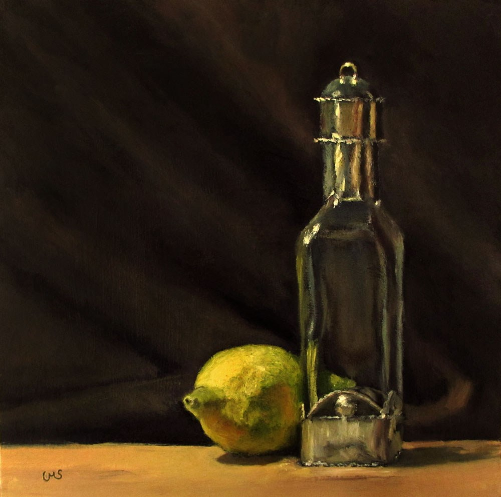 """Moroccan Flacon with Lemon"" original fine art by Ulrike Miesen-Schuermann"