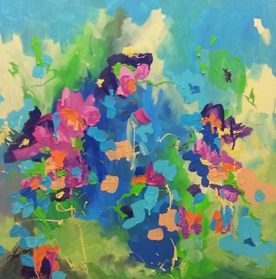"""""""Garden Dreams"""" original fine art by Terri Einer"""
