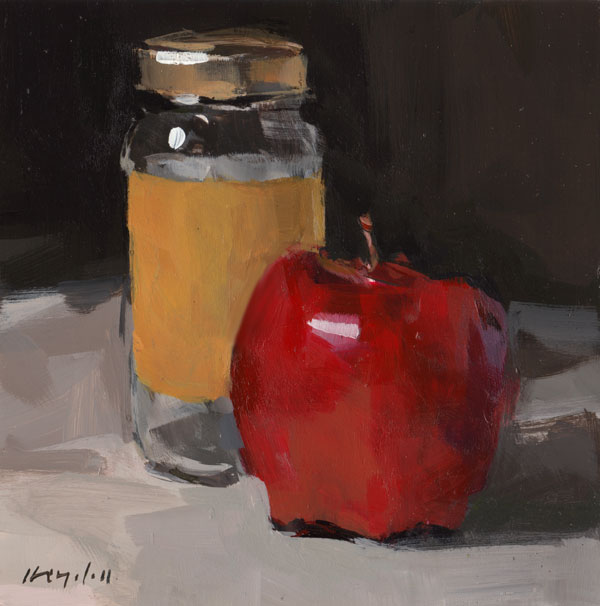 """Apple and Jar"" original fine art by David Lloyd"