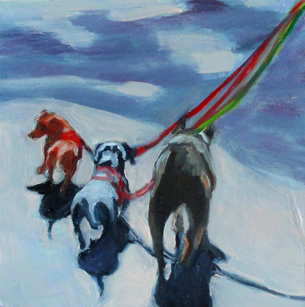 """A Three Dog Afternoon"" original fine art by Cietha Wilson"