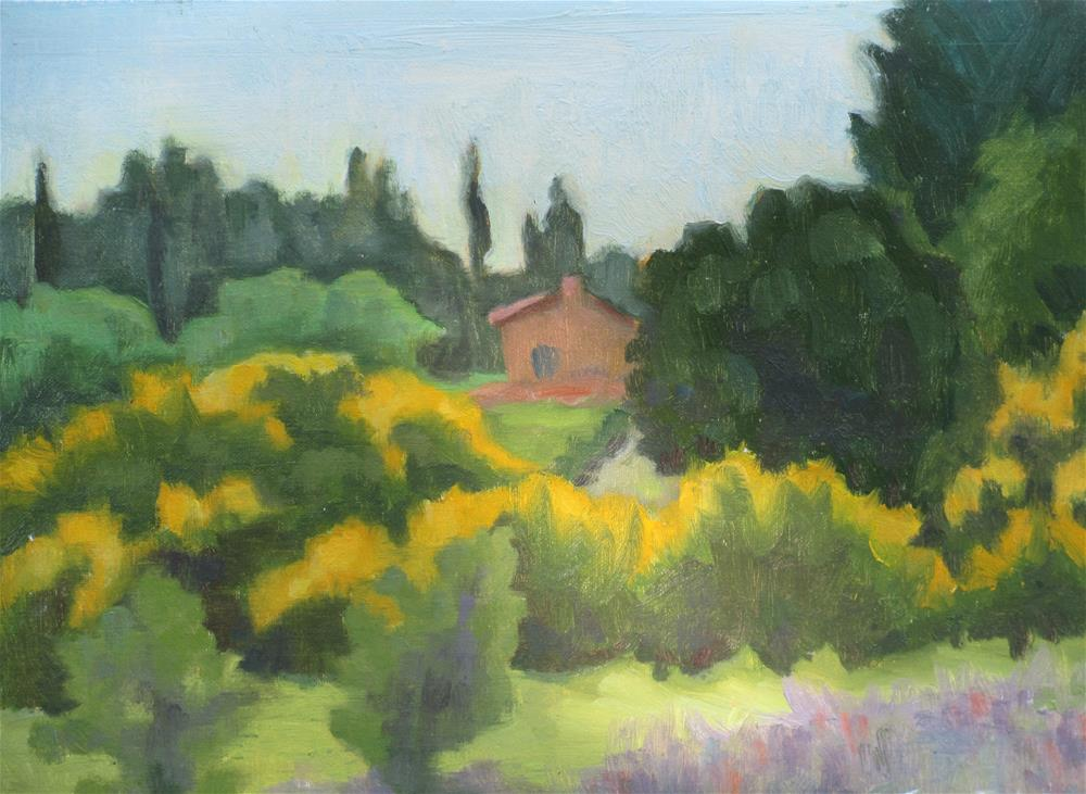 """Provence in June"" original fine art by Judy Elias"
