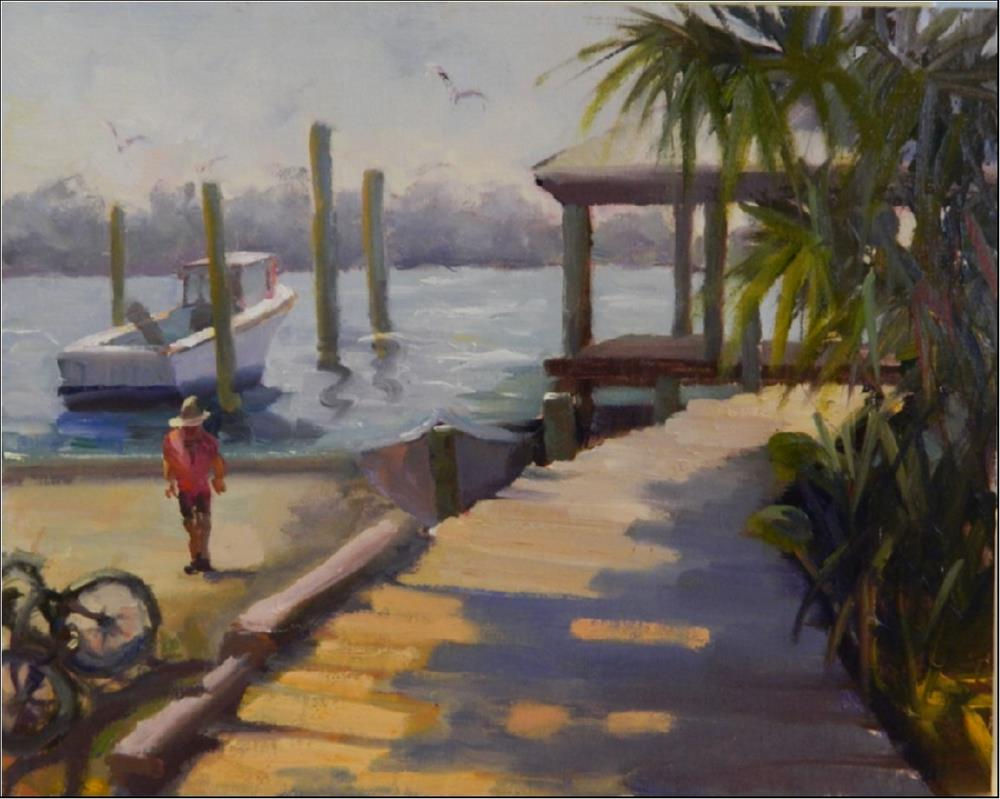 """Afternoon Light, Cortez Fishing Village, plein air , 11x14, plein air, Cortez fishing village, Bra"" original fine art by Maryanne Jacobsen"