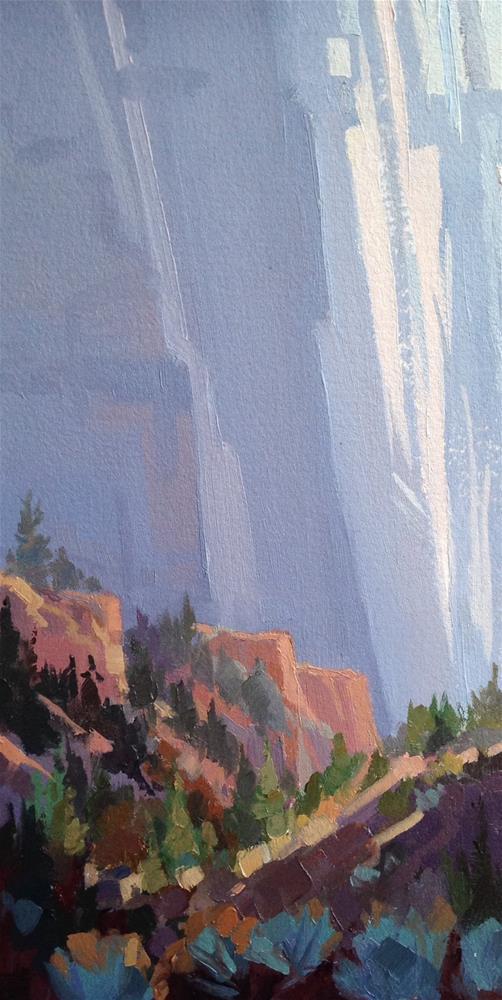 """Kolob Canyon Walls"" original fine art by Mary Jabens"