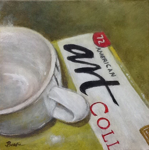 """""""Art Collector"""" original fine art by Maureen Bowie"""