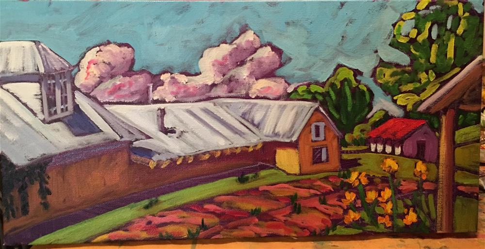 """Quaint Home in Truchas NM"" original fine art by Robyn Wellman"