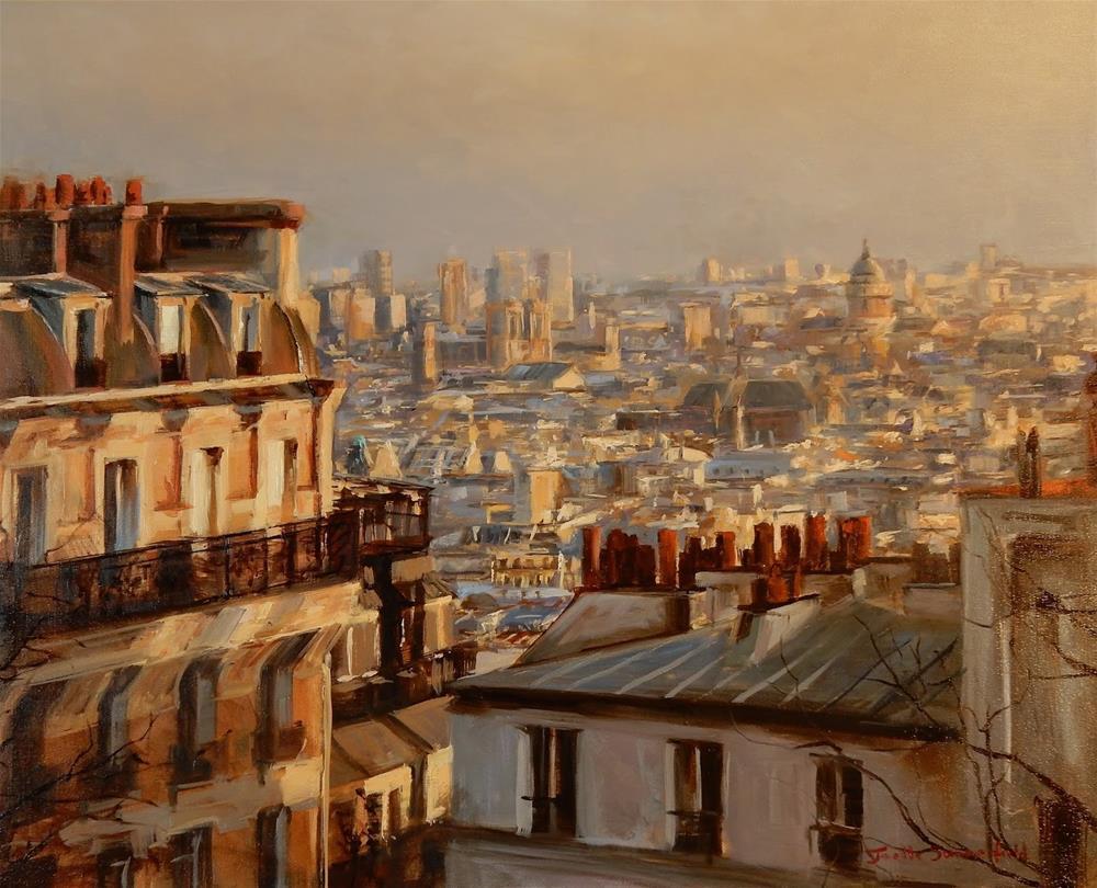 """View of Paris from Montmartre"" original fine art by Jonelle Summerfield"