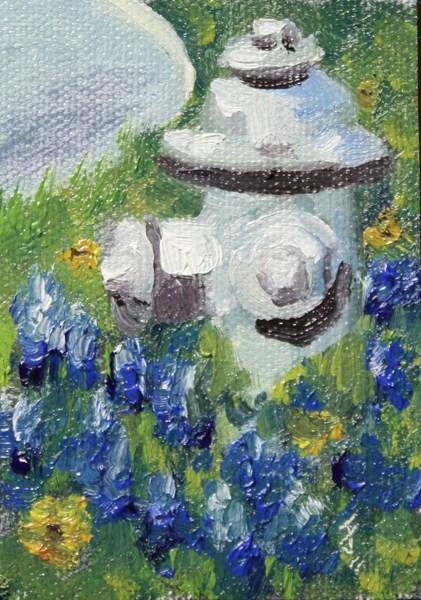 """Mini Wildflower Hydrant"" original fine art by Jane Frederick"
