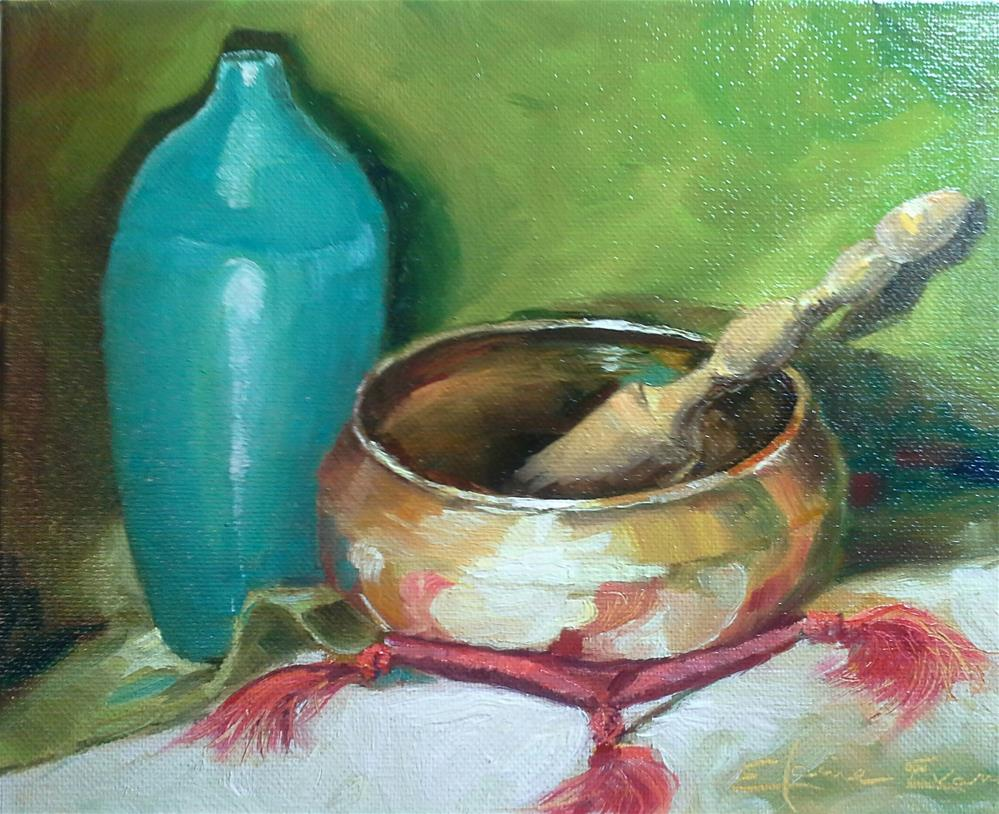"""Singing Bowl"" original fine art by Elaine Evans"