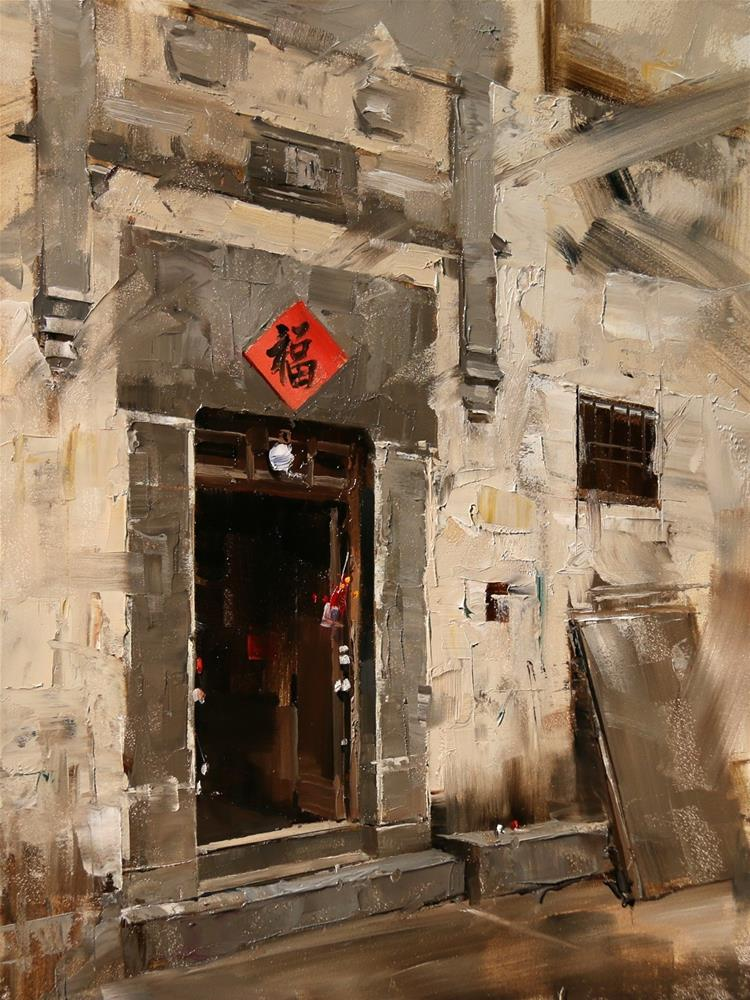 """Xidi Doorway 3"" original fine art by Qiang Huang"