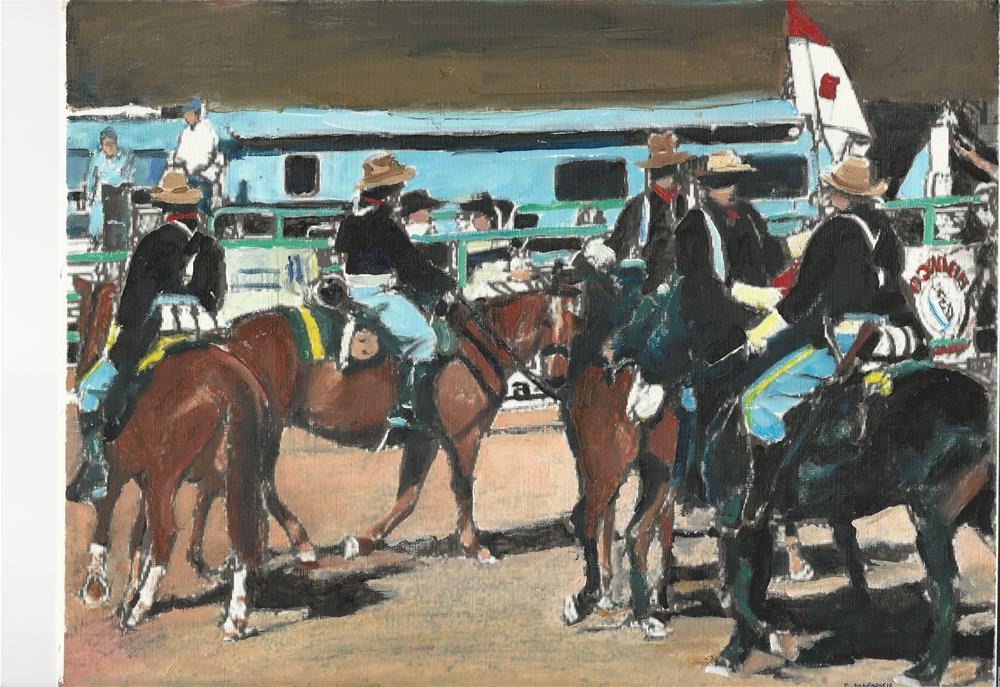 """""""The Company (12 x 16  Oil on canvas paper - no frame)"""" original fine art by Ramon DelRosario"""